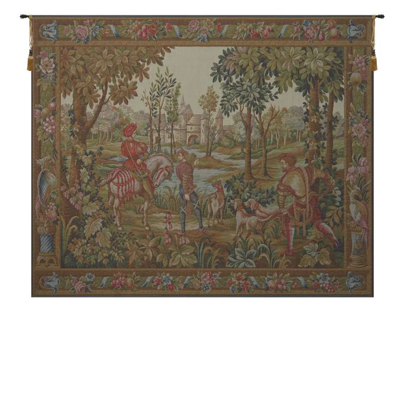 Retour de Chase French Tapestry Wall Hanging