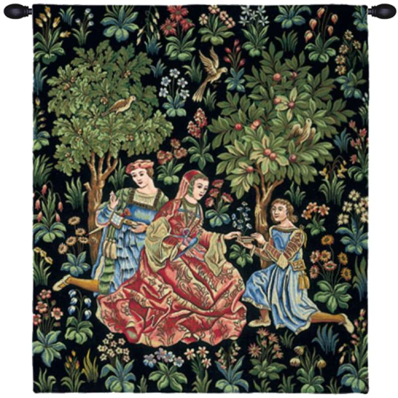Dame au Coffret French Tapestry Wall Hanging