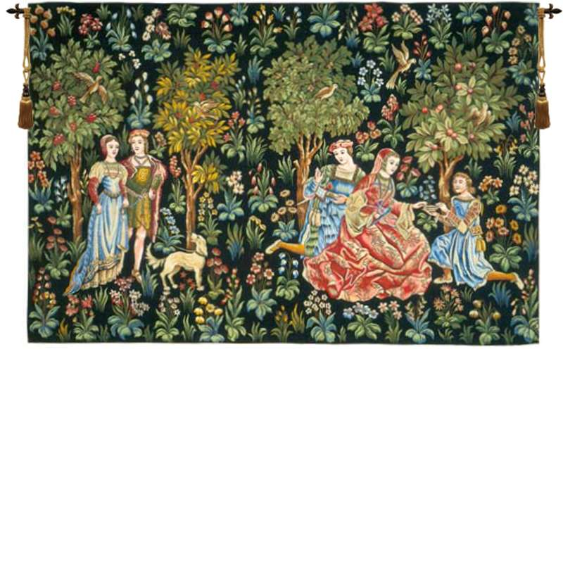 Scenes Gallantes Without Border French Tapestry Wall Hanging