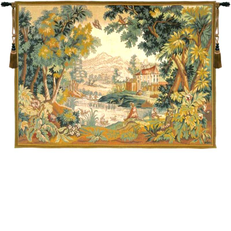 Paysage du Lauragais French Tapestry Wall Hanging