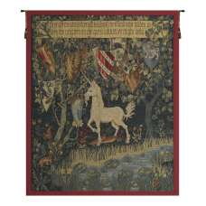 Heraldic Unicorn French Tapestry Wall Hanging