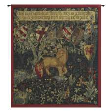 Heraldic Lion French Tapestry Wall Hanging