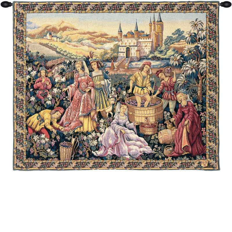 Vendanges au Chateau French Tapestry Wall Hanging