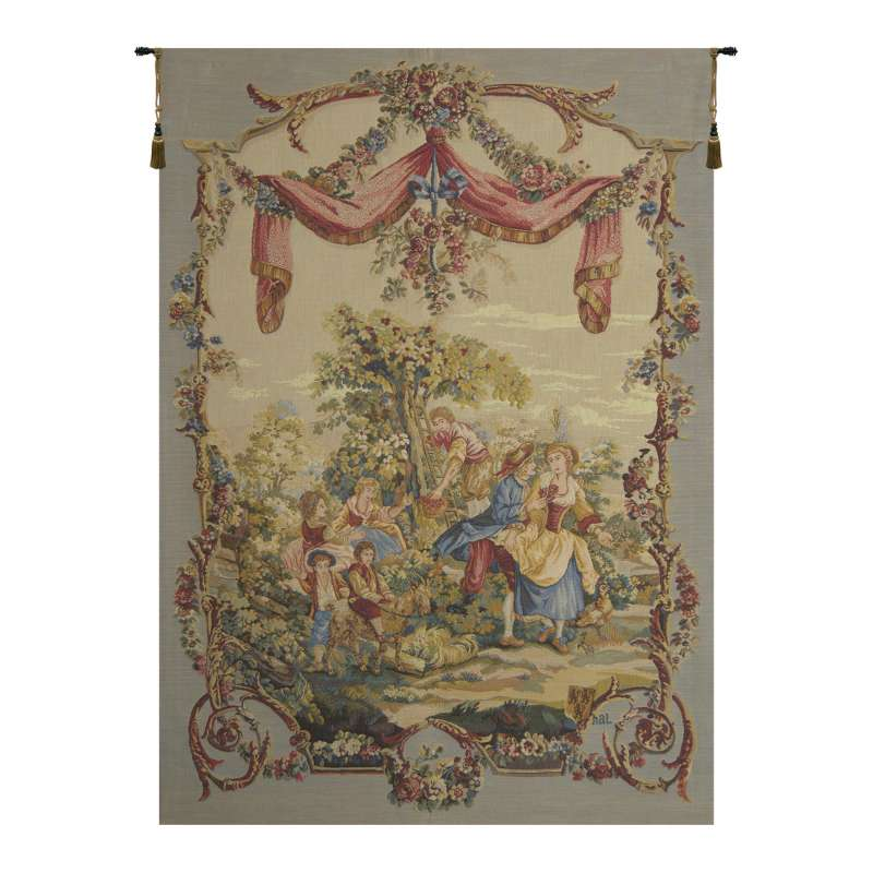 Galanterie French Tapestry Wall Hanging