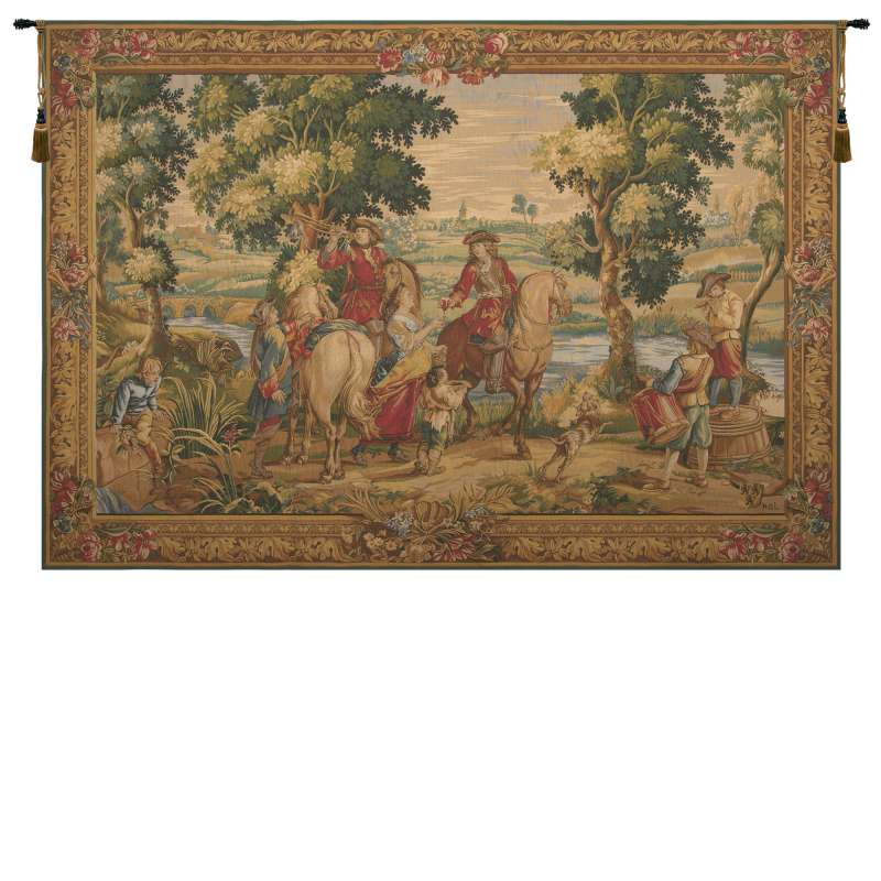 Les Sonneurs du Roi Les Tambours French Tapestry Wall Hanging