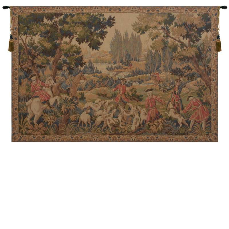 Chasse D'Oudry French Tapestry Wall Hanging