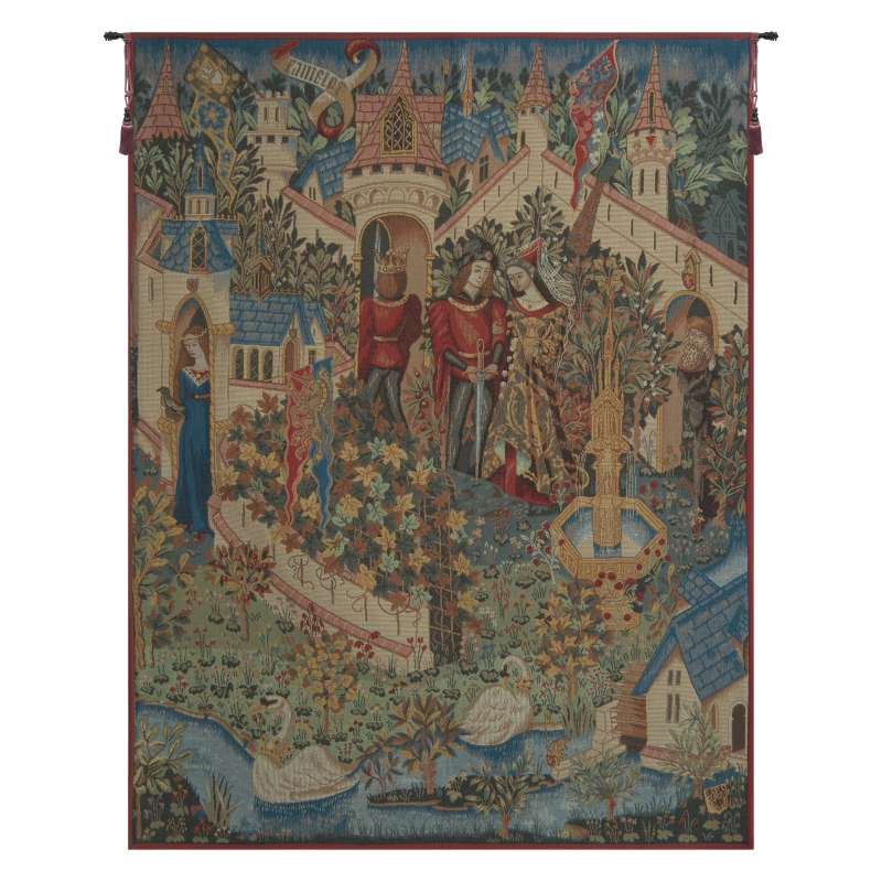 Genevieve Guenievre French Tapestry Wall Hanging