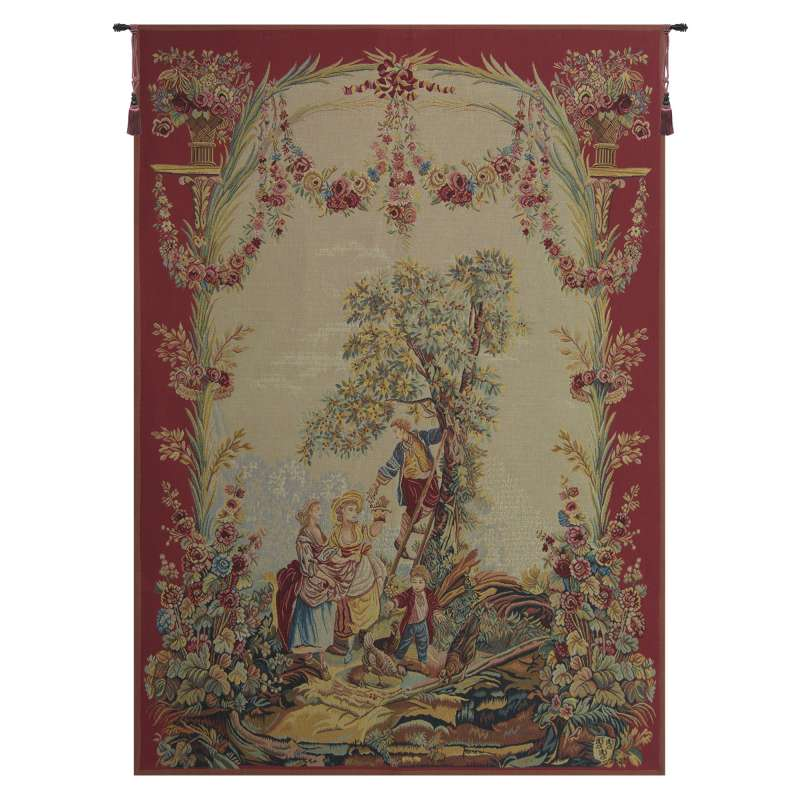 Le temps des cerises (Cherry Time) French Tapestry Wall Hanging