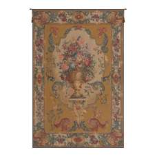 Bouquet Imperial Gold French Tapestry Wall Hanging