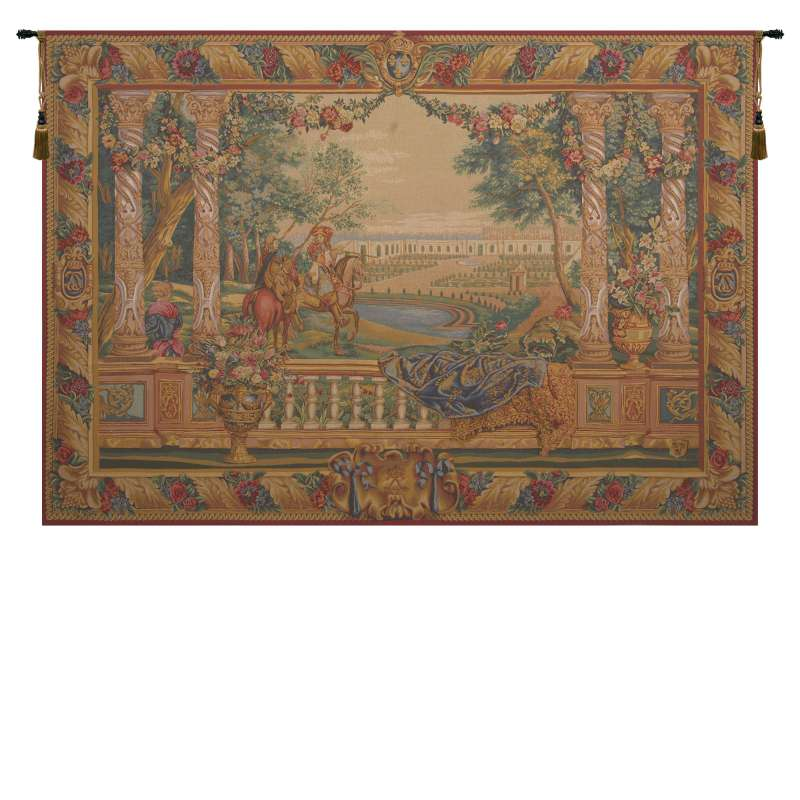 Louis XIV of Versailles French Tapestry Wall Hanging
