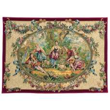 Rendezvous Galant French Tapestry Wall Hanging