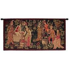 Le Vin Et la Vigne Vintage French Tapestry Wall Hanging