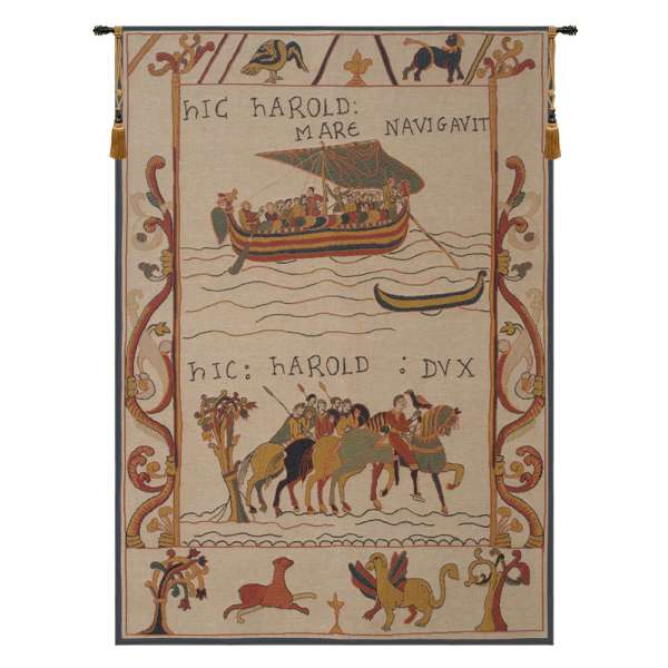 Harold et William Harold and William French Wall Tapestry
