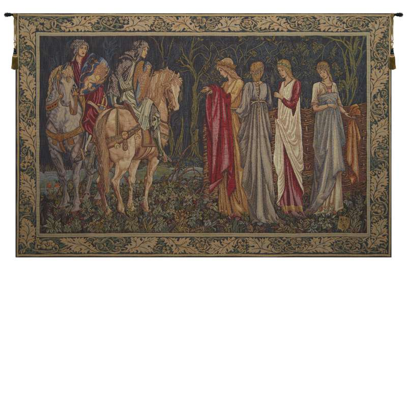 Departure of the Knights French Tapestry Wall Hanging