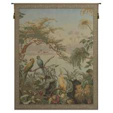 Oiseaux Exotique Exotic Birds French Tapestry Wall Hanging