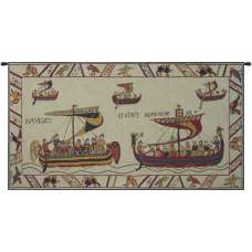 Les Normands The Norman Fleet French Tapestry Wall Hanging