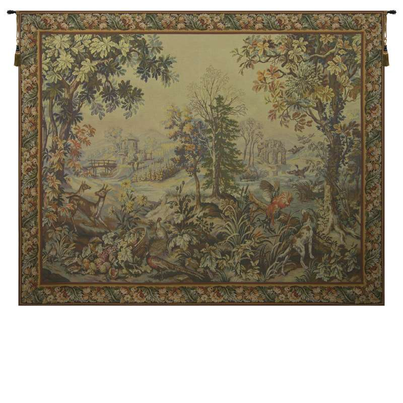Automne Hiver with Border French Tapestry Wall Hanging
