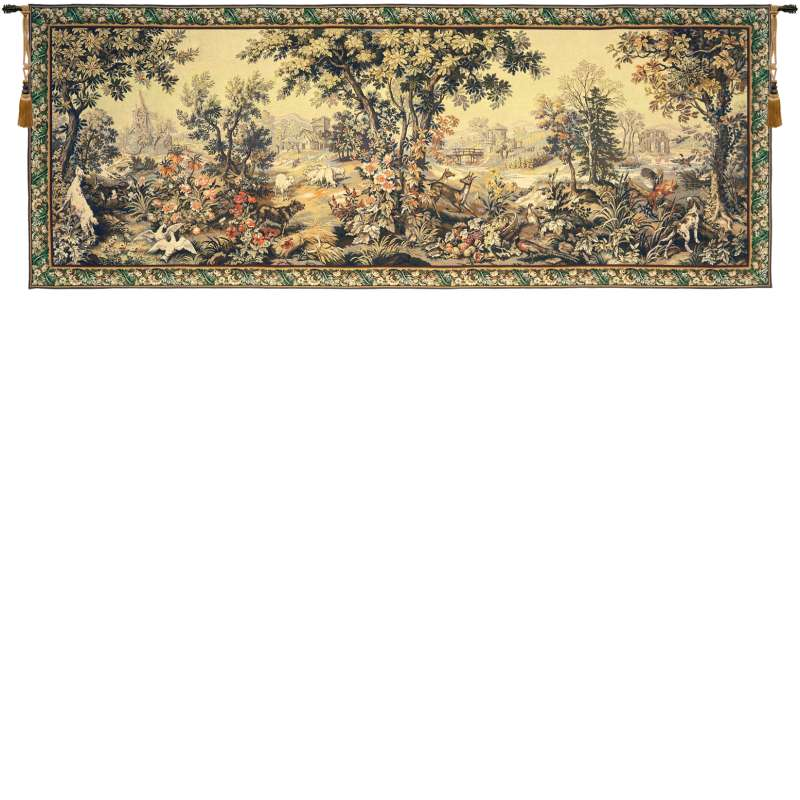 Les Quatre Saisons with Border French Tapestry Wall Hanging