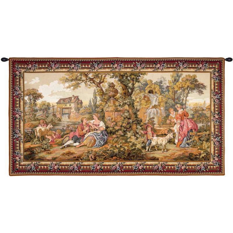Repos Fontaine Rest Fountain French Tapestry Wall Hanging