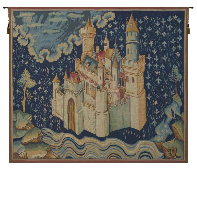 Le Chateau de L Apocalypse French Tapestry Wall Hanging