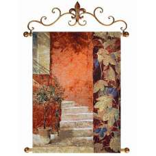 Courtyard Stairs Fine Art Tapestry