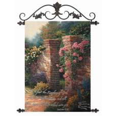 The Rose Garden- Thomas Kinkade Fine Art Tapestry