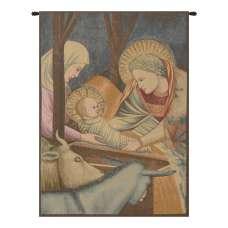 Nativity Giotto Left Panel Italian Tapestry Wall Hanging