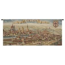 Florence Ancient Map Italian Tapestry Wall Hanging