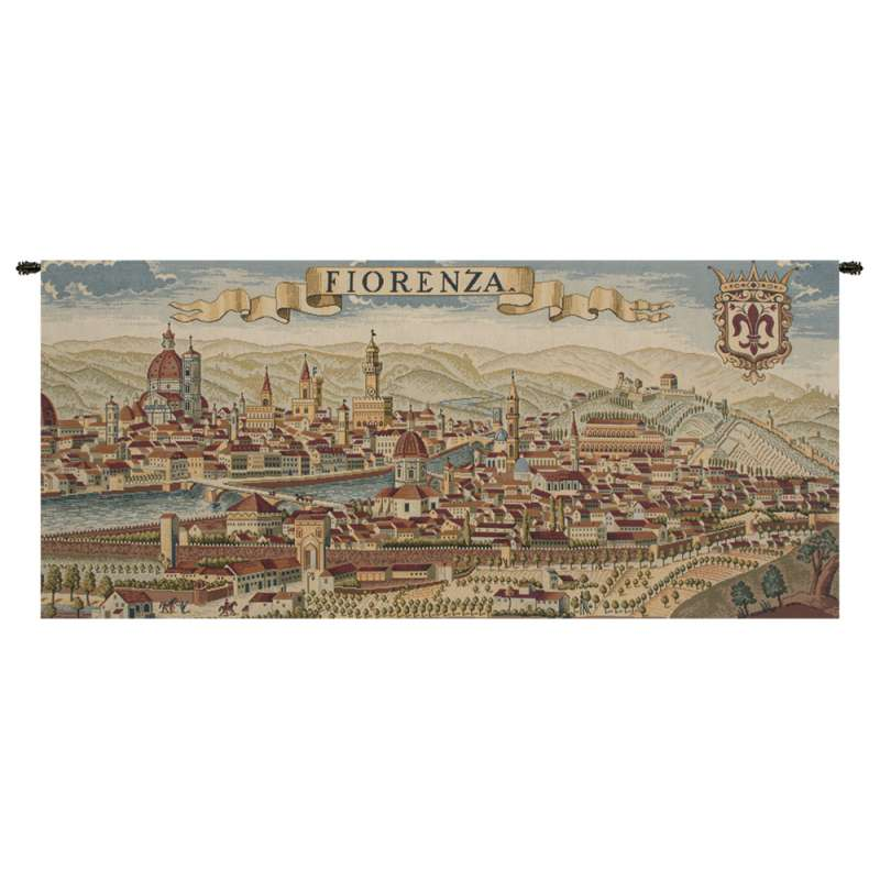 Florence Ancient Map Italian Tapestry