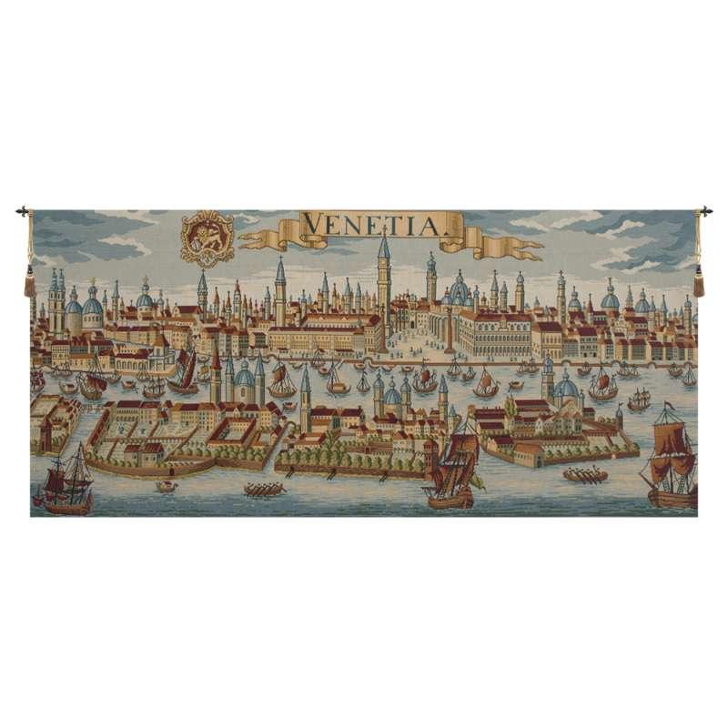 Venice Ancient Map Italian Tapestry