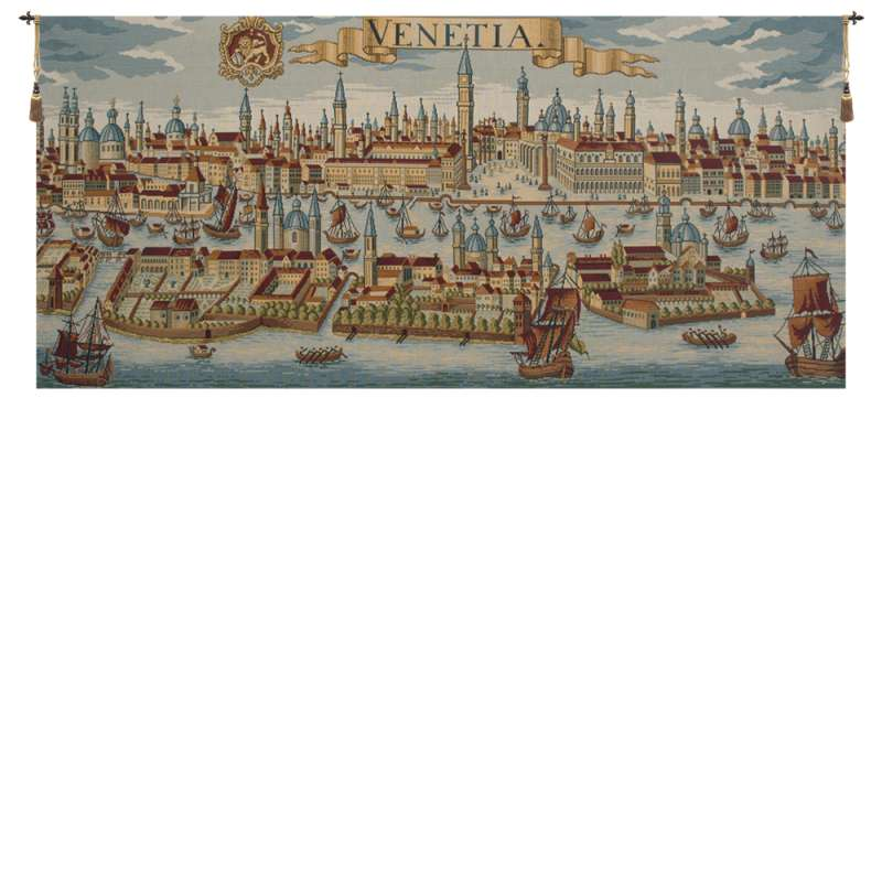 Venice Ancient Map Italian Tapestry Wall Hanging