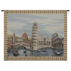Monuments Italy Italian Tapestry Wall Hanging