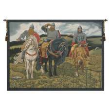 Knights the Bogatyrs Italian Tapestry Wall Hanging