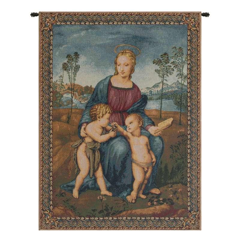 Madonna del Cardellino II Italian Tapestry Wall Hanging
