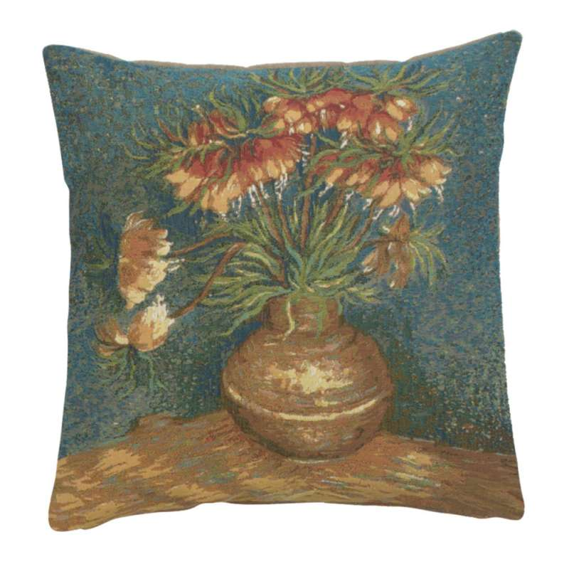 Lilies by Van Gogh French Tapestry Cushion