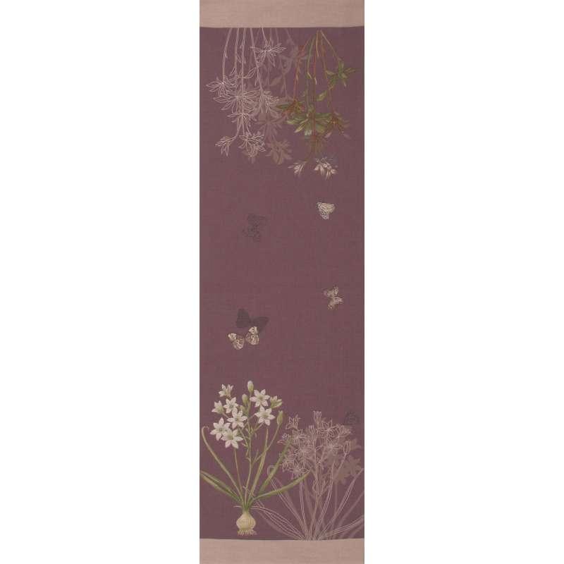 Herbarium Plum French Tapestry Table Runner