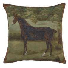 Black Horse Decorative Tapestry Pillow