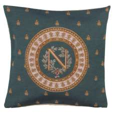 Blue Napoleon French Tapestry Cushion