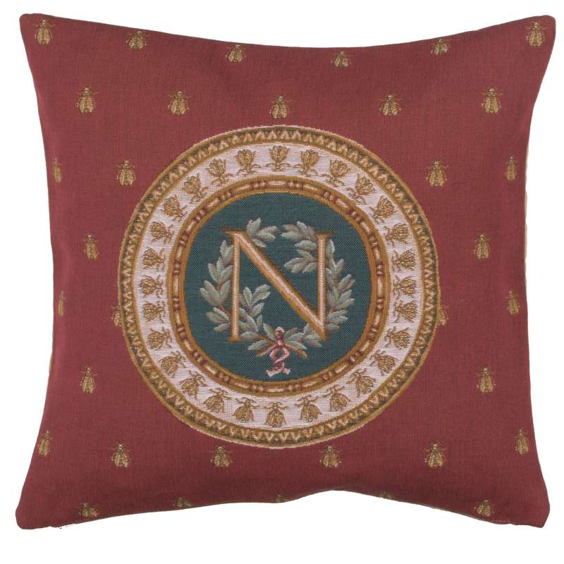Red Napoleon French Tapestry Cushion