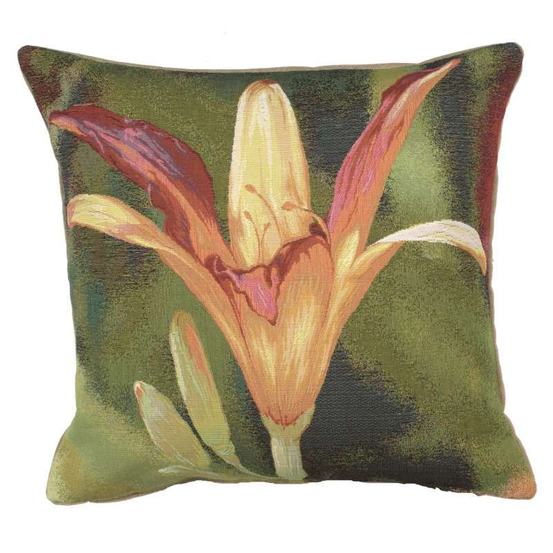 Fleur Orange Fond French Tapestry Cushion