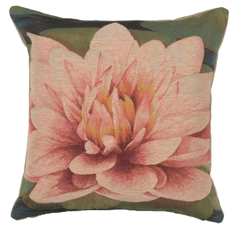 Water Lilly Flower French Tapestry Cushion