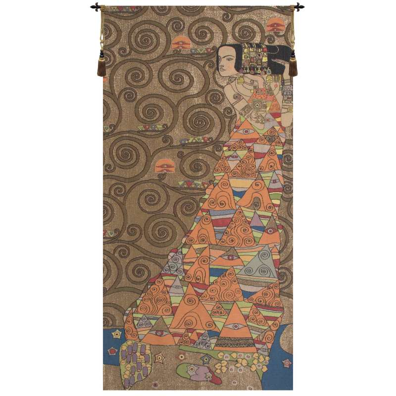 L'Attente Klimt a Droite Or French Tapestry