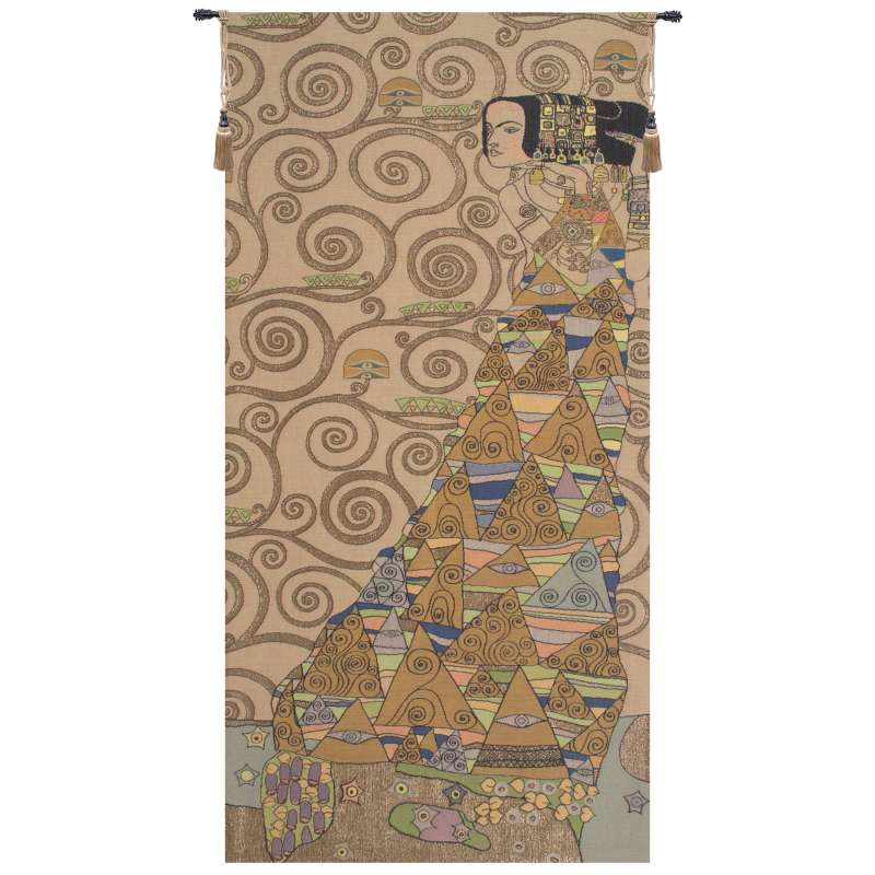 L'Attente Klimt a Droite Clair French Tapestry