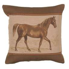 Horse Belt French Tapestry Cushion