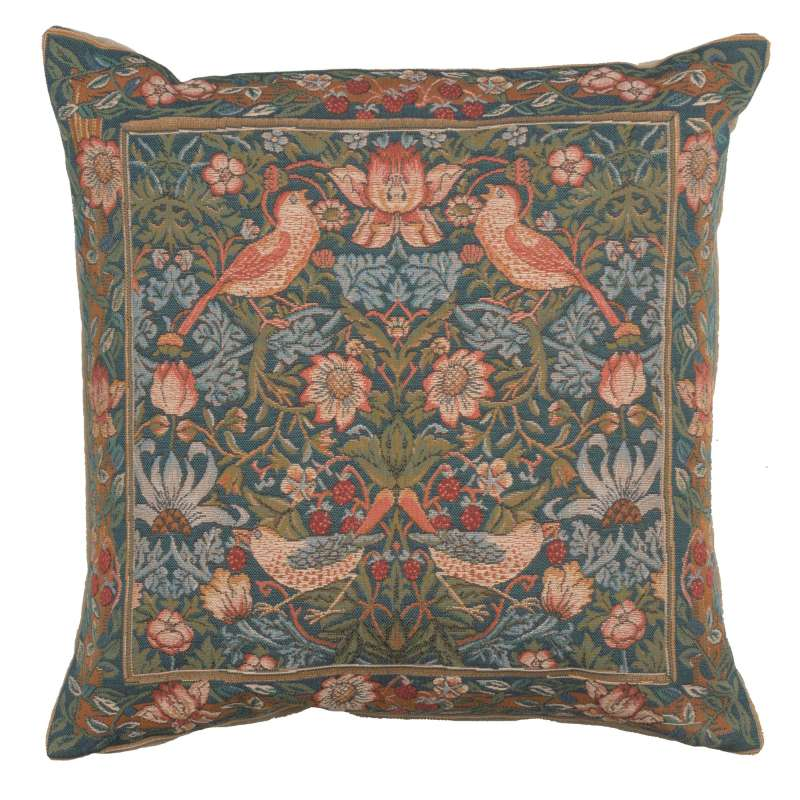 Birds Face to Face II French Tapestry Cushion