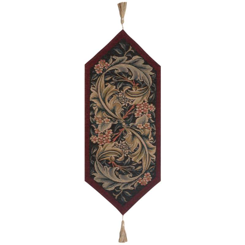 William Morris Red Large French Tapestry Table Runner