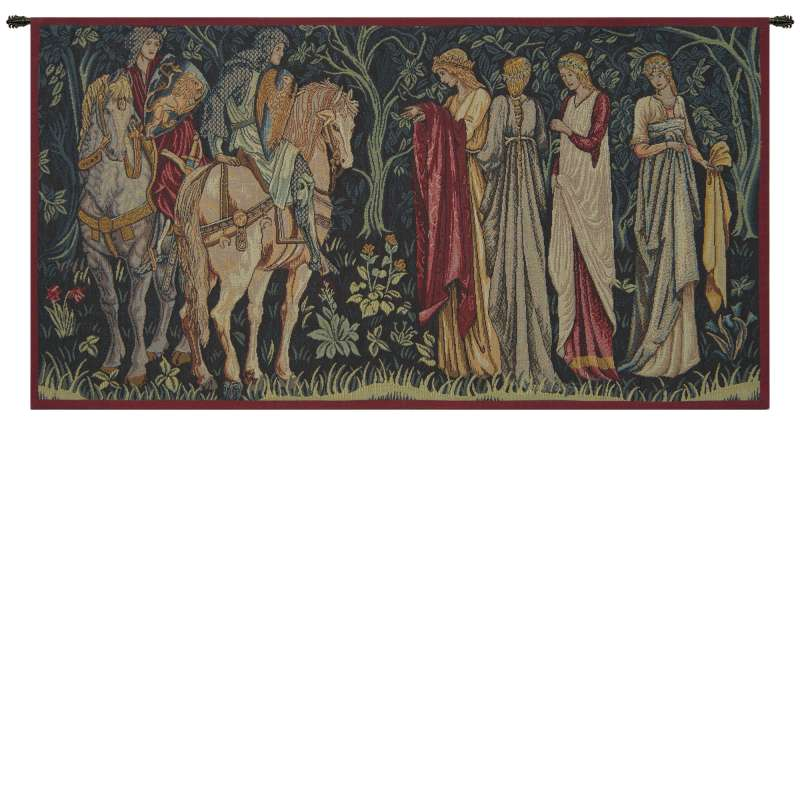 The Departure of the Knights French Tapestry Wall Hanging