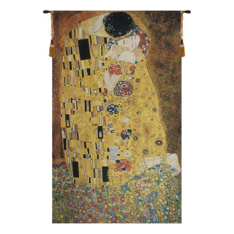The Kiss Flanders Belgian Tapestry Wall Hanging