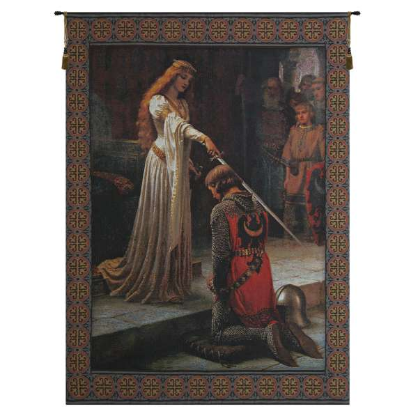 Accolade With Border Belgian Wall Tapestry