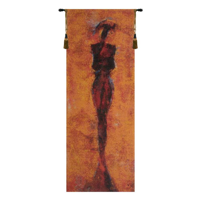 Africa Red Belgian Tapestry Wall Hanging